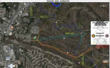 Cahaba Beach Road Alternative Alignments