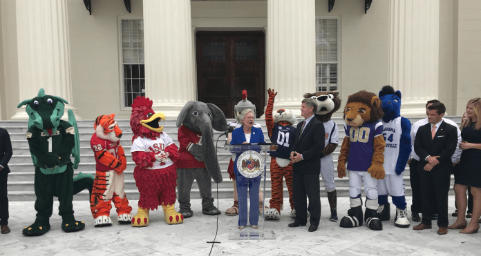 Ivey sets College Colors day 2018