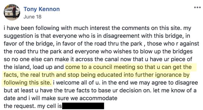 Tony Kennon on FB
