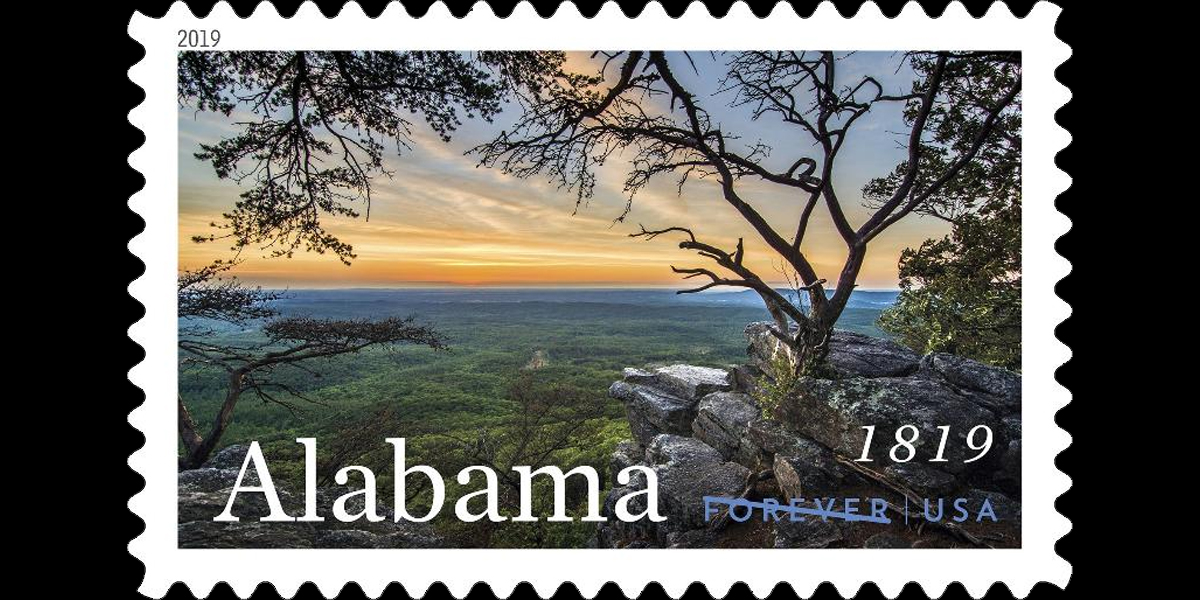 USPS unveils new stamp in honor of Alabama's 200th birthday