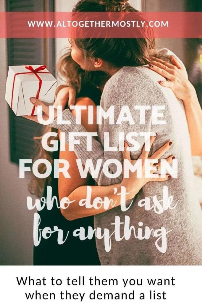 gift list for women