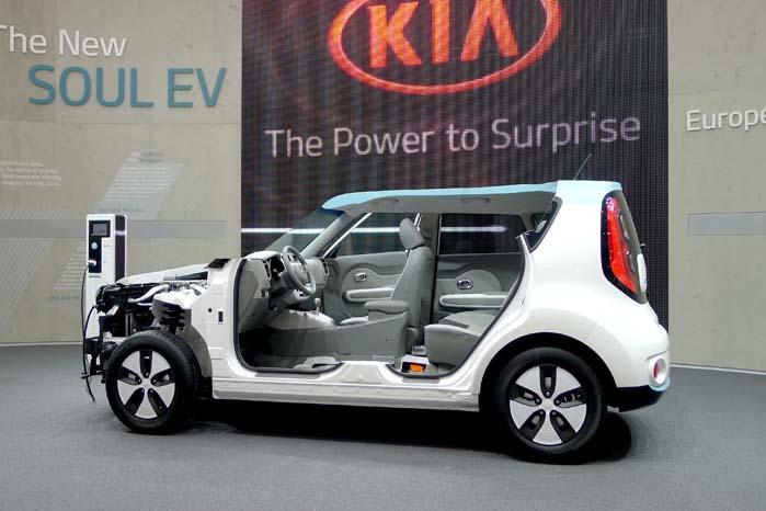EV-modellen drives med en 27 kW elektromotor og 200 kilo Li-Ion batterier,som giver en rækkevidde på op til 200 km.
