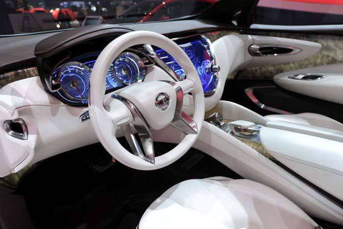 Interiøret som det kan komme til at se ud i den nye Nissan Murano.