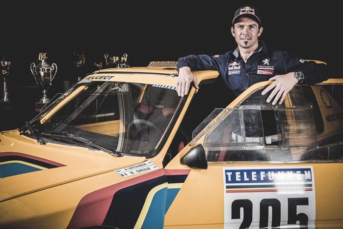 Cyril Despress -fem gange Dakar-vinder på motorcykel og nu som pilot på den kommende Peugeot 2008 DKR.