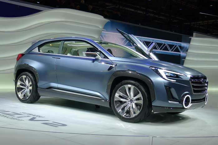 Subaru sikrer sig opmærksomhed med konceptbilen Viziv. Mere om denne her: https://altomvarebiler.dk/subaru-viziv-har-fire-motorer/