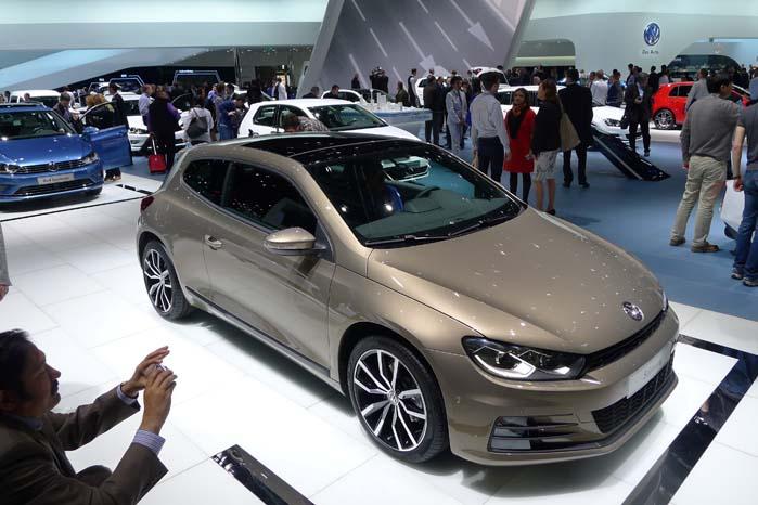 Sådan ser den faceliftede VW Scirocco ud nu.