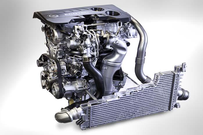 Blandt de nyeste motorer i Opels modelprogram er den 1.6-liter store SIDI turboladede benzinmotor.