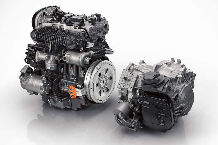 To motorer - én til fossilt brændstof og én til strøm fra batteripakken.
