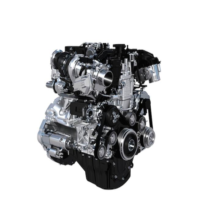 Ingenium motoren har både kompressor og turbolader og kører på benzin eller diesel