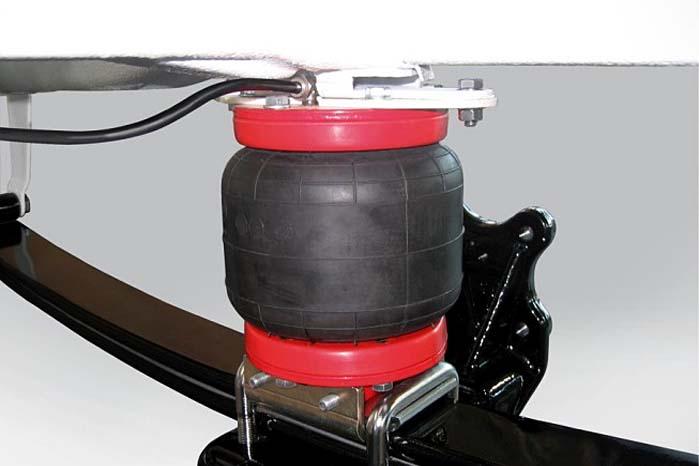 Med AL-KO Air Top-bælgen kan varebilens frihøjde øges med op til 50 mm.