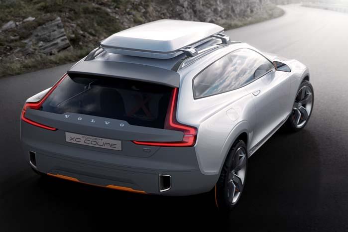 Concept XC Coupé er på vej ind i skikkelse af den serieproducerede udgave med en 400 hk topmodel og angiveligt med et CO2-udslip på kun 60 g/km.