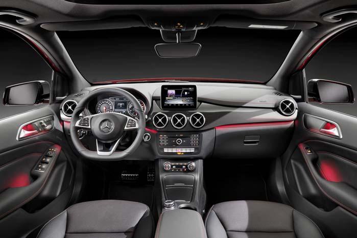 Har du penge, så kan du få fra standardindretning til en kabine med eksklusivt AMG-look som her.