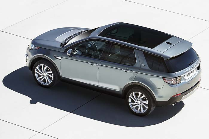 Discovery Sport med panoramatag.