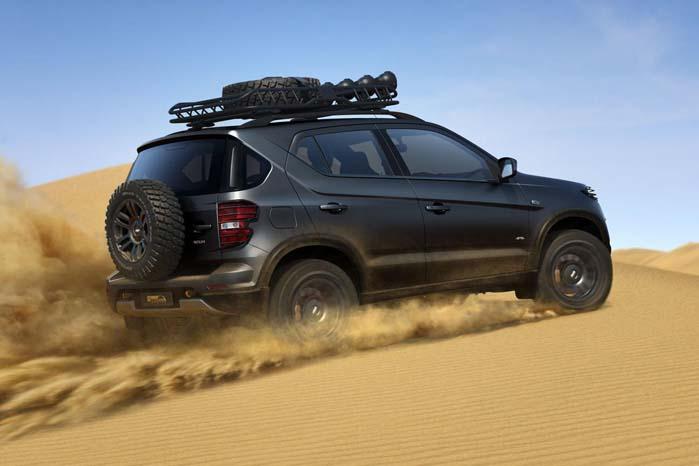 Ladas nye Chevrolet Trax-baserede Niva-koncept er skruet sammen til såvel sibirisk tundra som til Gobi-ørkenens sandklitter.
