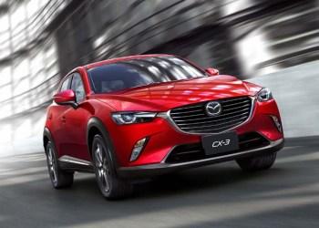 Mazda har kørt den nye CX-3 ud i lyset ved åbningen af ;os Angeles' internaitionale motorshow.