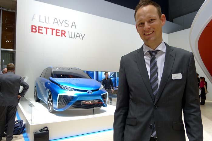 Pressechef Anders Tystrup, Toyota Danmark, bekræfter at brintteknologien også vil kunne anvendes til udvikling af varebiler.