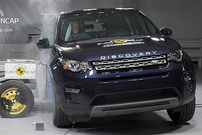 Land Rover Discovery Sport - en af sidste års 5-stjernede topscorere i Euro NCAP-testen.