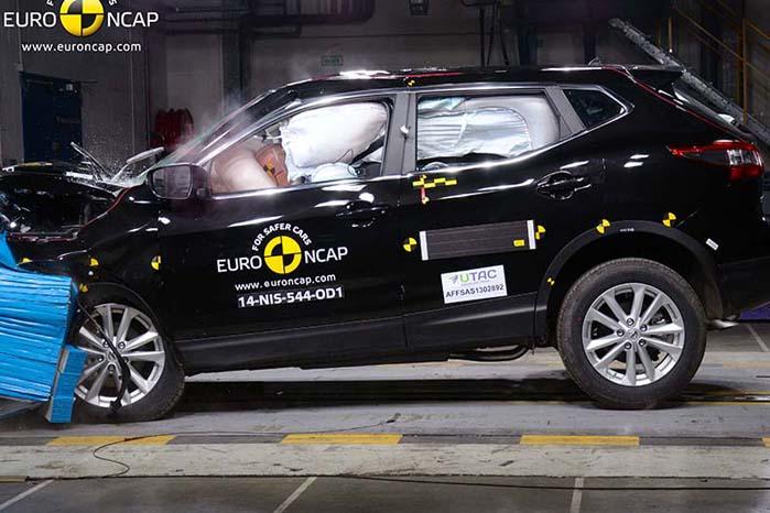 Nissan Qashqai - en af sidste års 5-stjernede topscorere i Euro NCAP-testen.