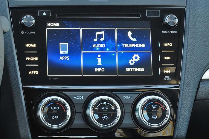 En stor og nem touch screen med fuld integration af smartphone, kørecomputer, Bluetooth og hvad har vi, har for længst løftet Forester og Subarus øvrige modeller ind i det 21. århundrede