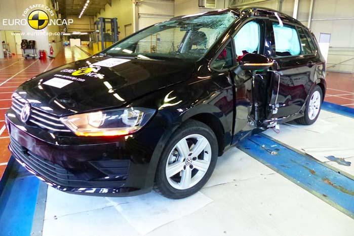 VW Golf Sportsvan - en af sidste års 5-stjernede topscorere i Euro NCAP-testen.