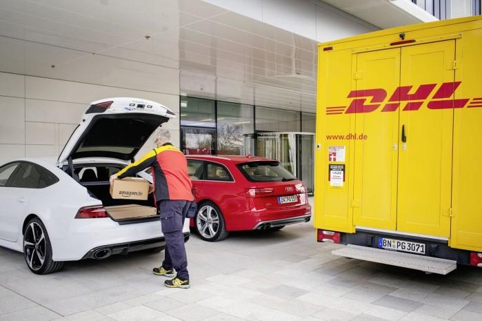 DHL får lov at spore din Audi i en bestemt periode, så de kan levere pakken, uden at du skal besværes