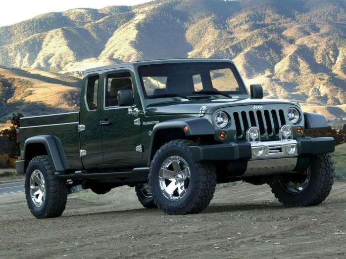 Jeep kan være på vej til at bygge en pickup på basis af Wrangler. Her ses Gladiator-konceptet fra 2005