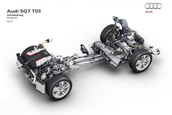 Det 48-volts batteri til den elektriske kompressor ligger under bagagerummet.