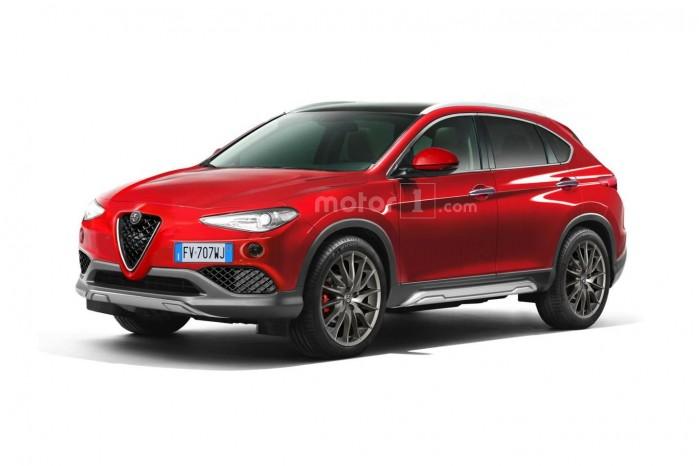 Et bud på hvordan Alfa Romeos nye SUV ender med at se ud. Foto: Motor1.com