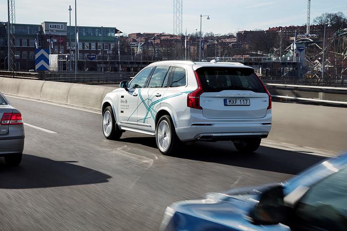 Til næste år begynder Volvo et forsøg med selvkørende biler over en strækning på 70 km ved Gøteborg