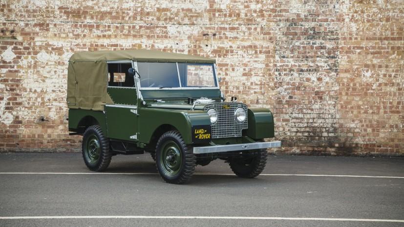 Uha - en fuldt restaureret Land Rover Serie I er et stykke unikt bilhistorie.