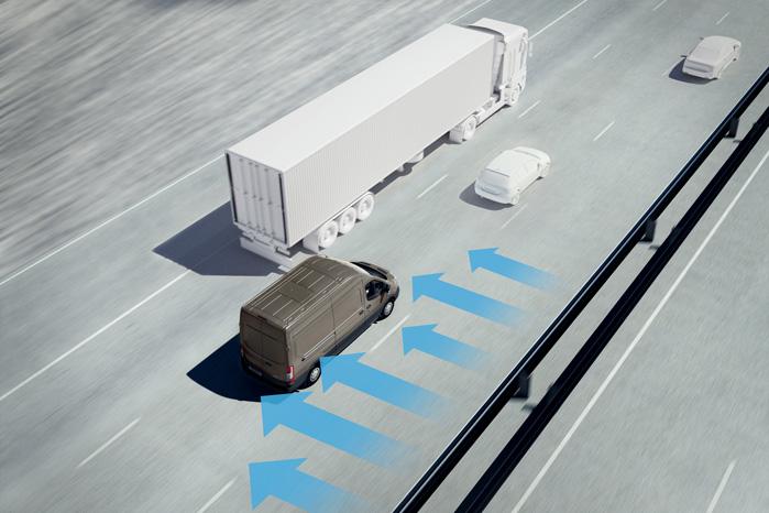 Sidevindsstabilisering er standard på alle Ford Transit og Transit Custom med den nye motor