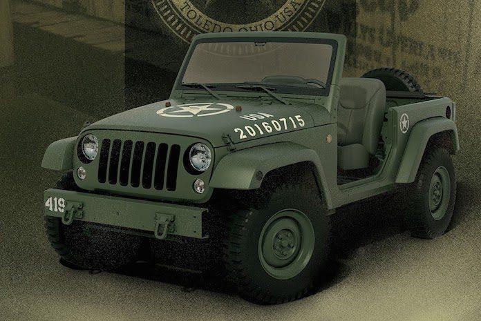 Jeep Wrangler 75th Salute er en hyldest til den originale Willys Jeep.