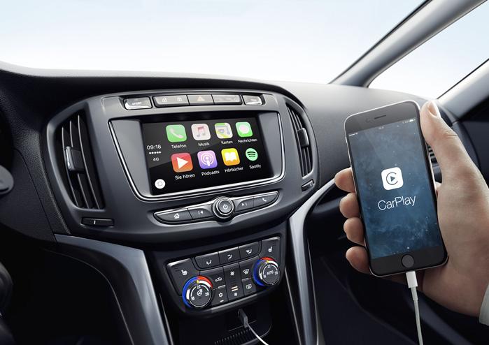 Intellilink er standard og kan spejle alle din telefons funktioner. Blandt andet navigation og alle apps i Apple Carplay og Android Auto