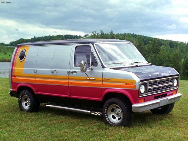 En Ford Econline fra 1976 er så tæt, man kan komme på en rigtig 'boogie van'. Om det var sådan en, en mand fra Ohio forulempede, vides ikke.