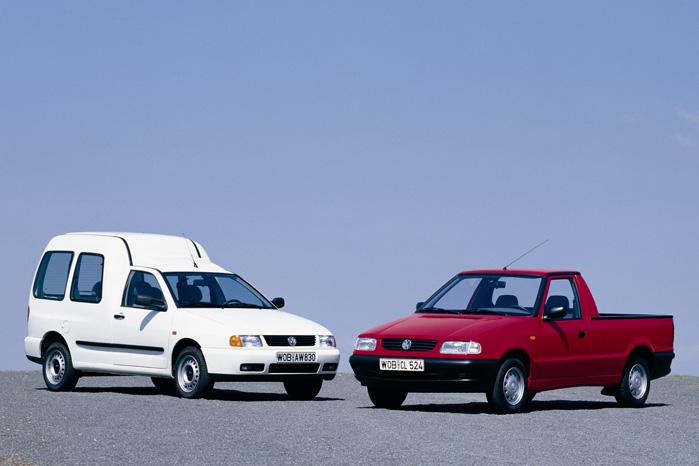 Senere blev den til VW Caddy og fik oven i købet en kasse bygget på