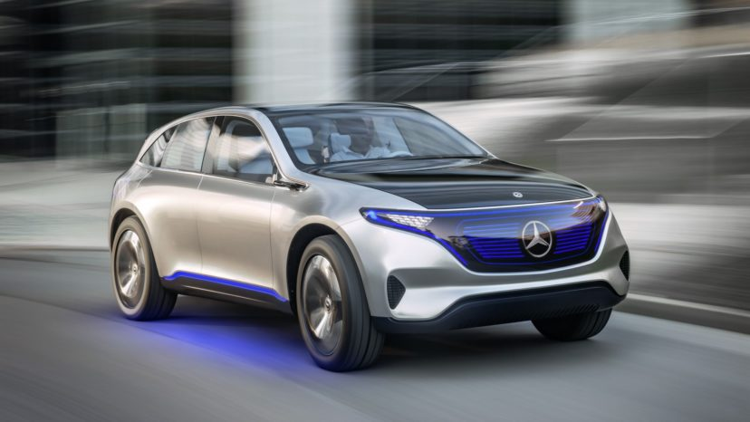 Mercedes EQ er første elektriske model. Det er en crossover med 500 km rækkevidde.