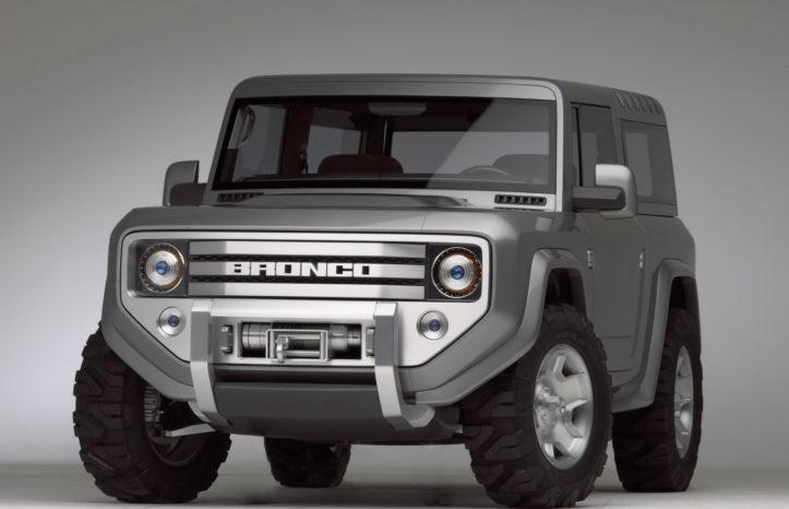 Ford lavede et designstudie af Bronco i 2004, der lå meget tæt på originalen fra 1966. Vi skal nok ikke forvente den nye udgave ligner konceptet.
