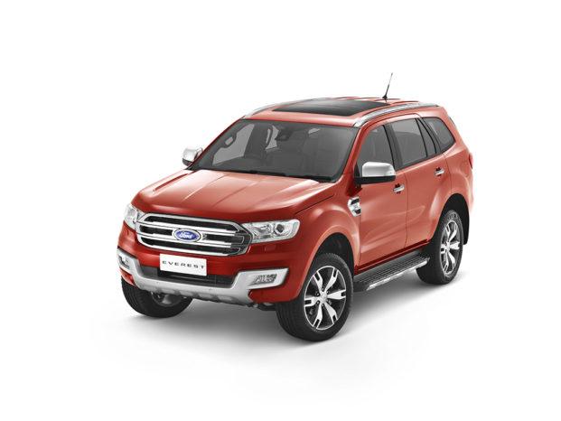 Ford Everest er baseret på den Ranger, vi kender, men som SUV, har den plads til op til syv personer. Modellen sælges hverken i Europa eller USA.
