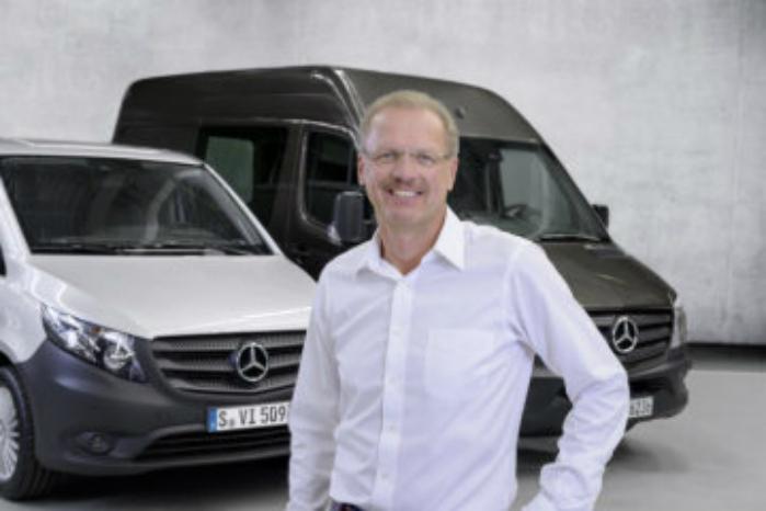Last mile-distributionen er nødt til at blive effektiviseret og ikke mindst blive gjort emissionsfri, siger Volker Mornhinweg, der er chef for Mercedes-Benz Vans