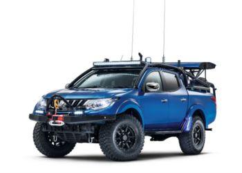 """Tom Fords TopGear-projekt: En Mitsubishi L200 ombygget til """"Pre Runner"""""""