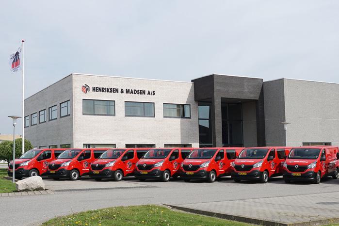 Murerfirmaet Henriksen & Madsen i Løgstør har købt 11 varebiler hos Auto Fjerritslev