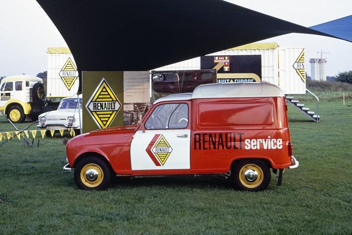 Renault 4 van var populær blandt mindre håndværkere