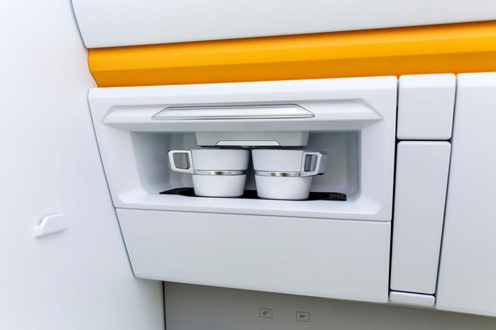 Kaffemaskinen er én af de funktioner, man nemt kunne se overført til den rigtige håndværkerbil