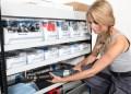 Sortimos hylder er modulopbyggede, så alle kasser passer i alle produktserier