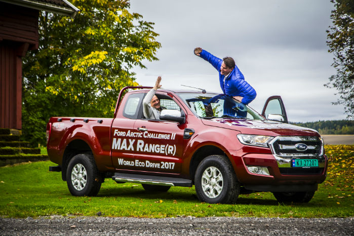 Kørslen foregik i en Ford Ranger med firehjulstræk, manuelt gear og 2,2-liters dieselmotor med 160 HK