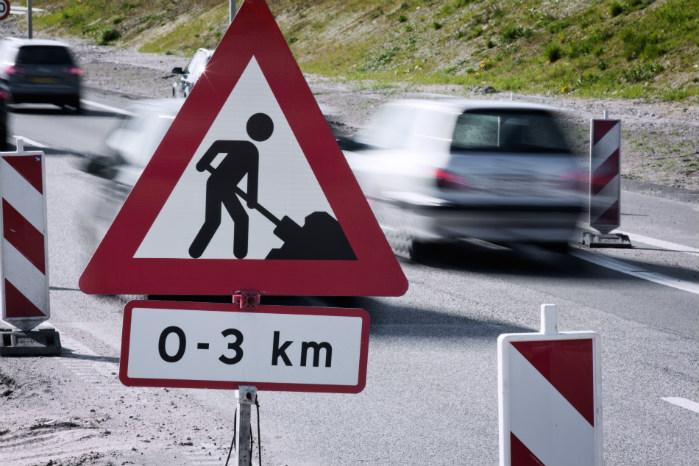 Udvidelsen af motorvejen mellem Skanderborg og Aarhus ventes at være færdig i slutningen af 2019. Foto: Vejdirektoratet