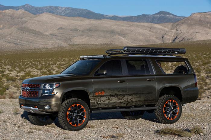 Sådan har vi aldrig set en Chevrolet Suburban før - med ekstra frihøjde og udstyret til de vilde vidder