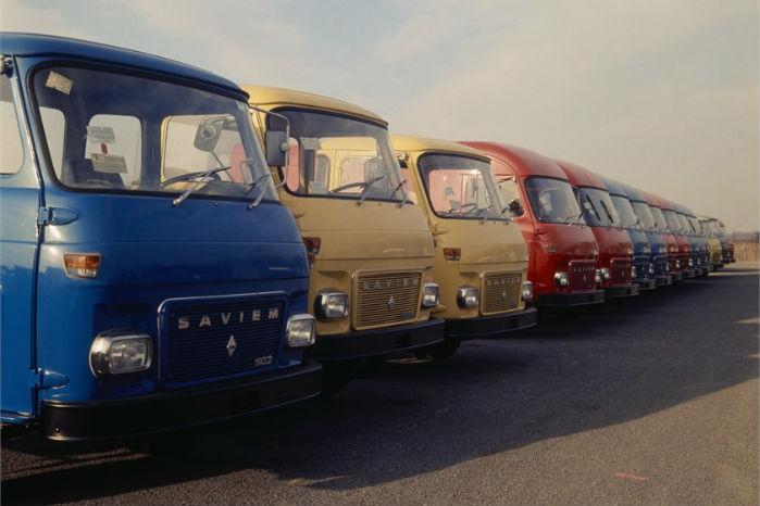 Saviem SG2 blev produceret fra 1955, og mærket kom gradvist ind under Renault. Motoren var på 2,6 liter og ydede 75 HK. Foto: Renault Communication