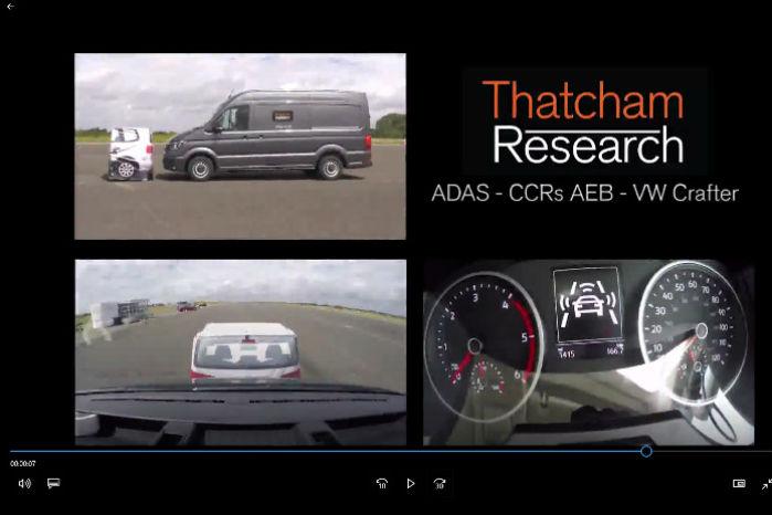 I en video får man et indtryk af, hvordan systemet arbejder. ADAS er en forkortelse for Advances Driver Assistance Systems