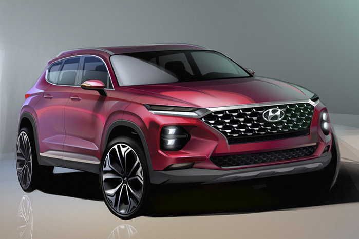 Hyundai Santa Fe får et langt mere dynamisk design, når den kommer på dansk vej til efteråret